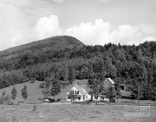 Horse Carriage Wall Art - Photograph - Mt. Agassiz Store, White Mountains, New Hampshire 1908 by Zal Latzkovich