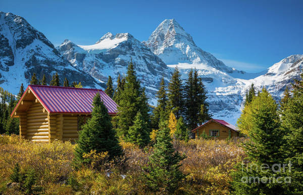 Wall Art - Photograph - Mt Assiniboine And Cabins by Inge Johnsson