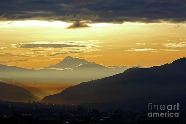 Photograph - Mt Ausangate And Cusco At Dawn Peru by James Brunker