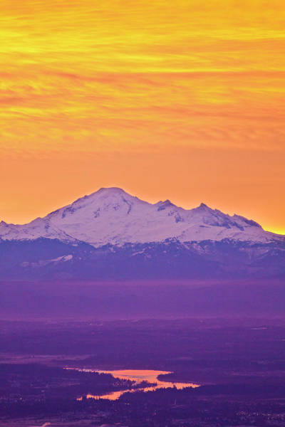 Photograph - Mt. Baker And Fraser Valley by Christopher Kimmel