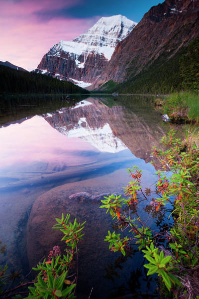 Art In Canada Photograph - Mt. Edith Cavell, Jasper National Park by Mint Images/ Art Wolfe