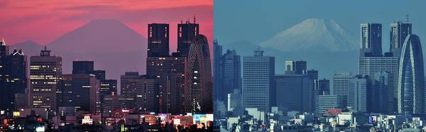Wall Art - Photograph - Mt. Fuji & Tokyo by Hidehiko Sakashita