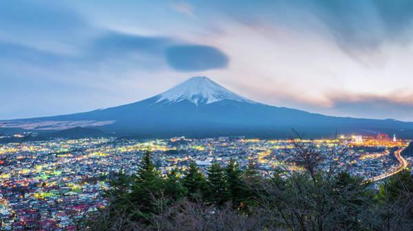 Japan Photograph - Mt Fuji At Twilight by Japan