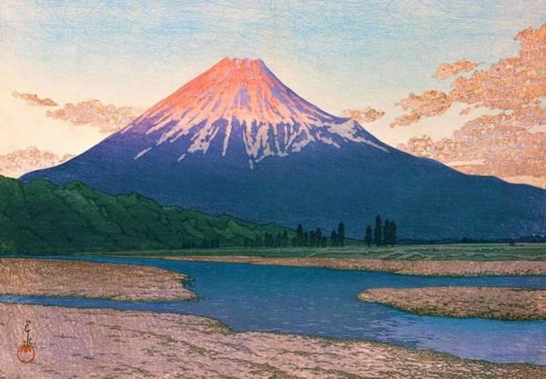 Wall Art - Painting - Mt. Fuji Fujikawa - Top Quality Image Edition by Kawase Hasui