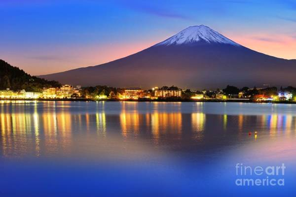 Wall Art - Photograph - Mt. Fuji, Japan At Lake Kawaguchi After by Sean Pavone