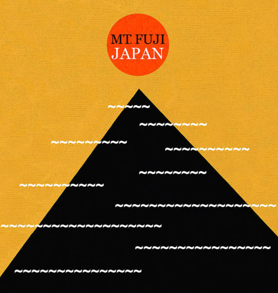 Wall Art - Digital Art - Mt Fuji Japan Minimalism Work A by David Lee Thompson
