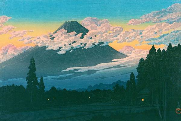 Wall Art - Painting - Mt. Fuji Susono - Top Quality Image Edition by Kawase Hasui