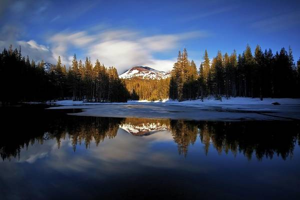 Tioga Photograph - Mt Gibbs Reflection II by Tom Grubbe