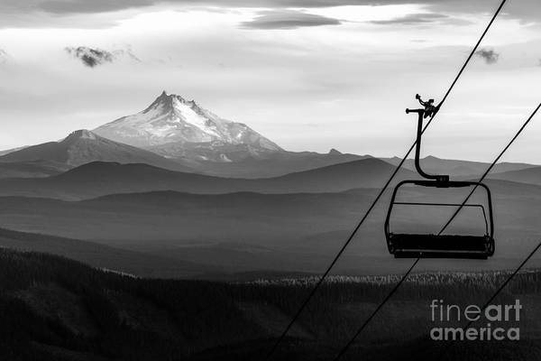 Mt Wall Art - Photograph - Mt Jefferson Chairlift by Alex J Baker