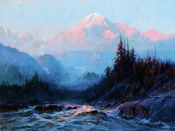 Wall Art - Painting - Mt. Mckinley Above The Tokosheetna, 1925 by Sydney Laurence