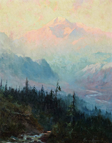 Wall Art - Painting - Mt. Mckinley At Twilight by Sydney Laurence