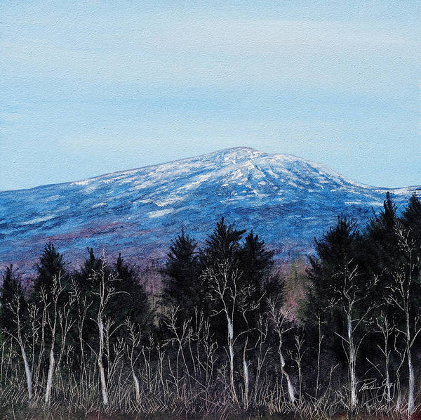Painting - Mt. Monadnock Spring Snow by Paul Gaj