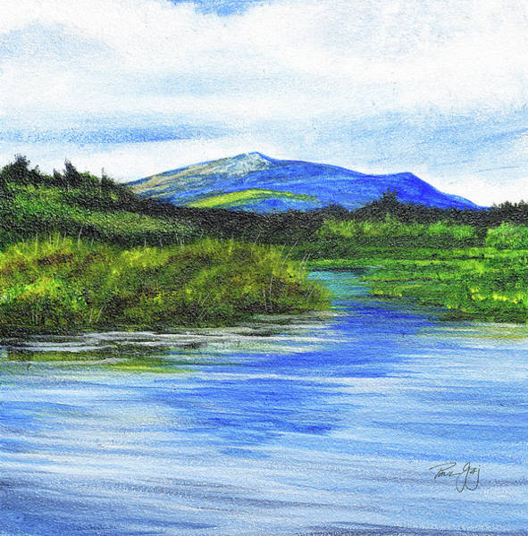 Painting - Mt. Monandnock From Scott Brook by Paul Gaj