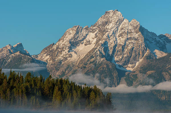 Photograph - Mt Moran Dressed In Clouds by Matthew Irvin