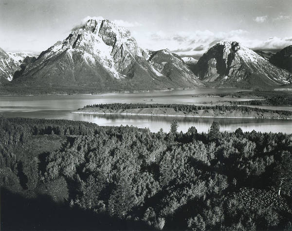 Teton Photograph - Mt. Moran, Teton National Park by Archive Photos