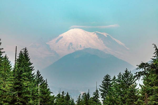 Photograph - Mt Ranier by Bill Gallagher