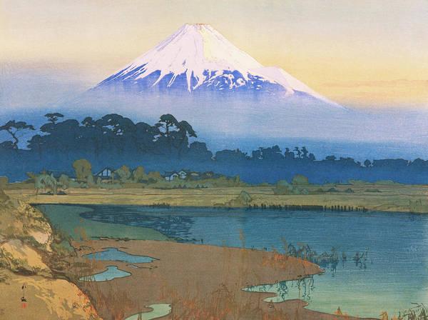 Wall Art - Painting - Mt.fuji 10view, Morning Sun - Digital Remastered Edition by Yoshida Hiroshi