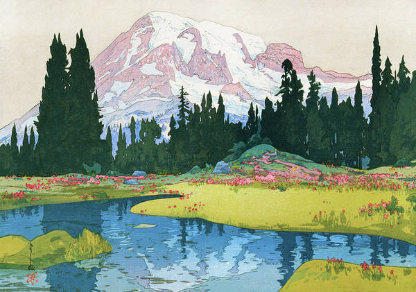 Wall Art - Painting - Mt.rainier - Digital Remastered Edition by Yoshida Hiroshi