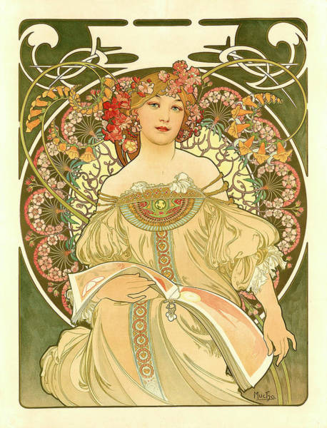 Digital Art - Mucha Poster by Gary Grayson