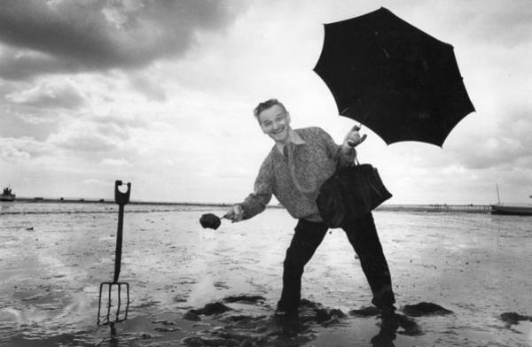 Southend Photograph - Mud Collector by Evening Standard