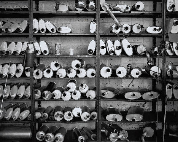 Variation Photograph - Mufflers On Shelves by Henri Silberman