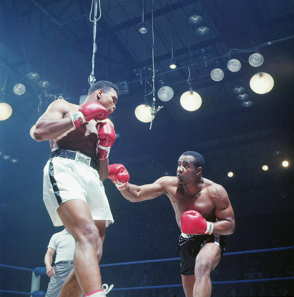 Photograph - Muhammad Ali And Sonny Liston by John Dominis