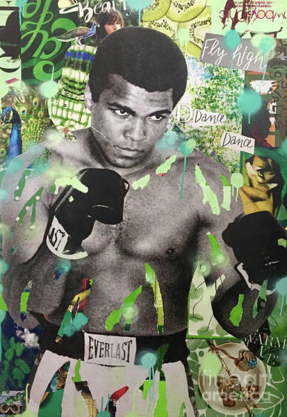 Streetart Mixed Media - Muhammad Ali by Diana Eger