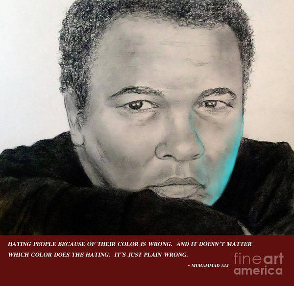 Wall Art - Digital Art - Muhammad Ali On Hating II by Jim Fitzpatrick