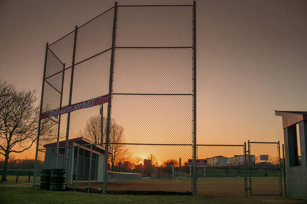 Photograph - Muhlenberg Softball Field Sunset by Jason Fink