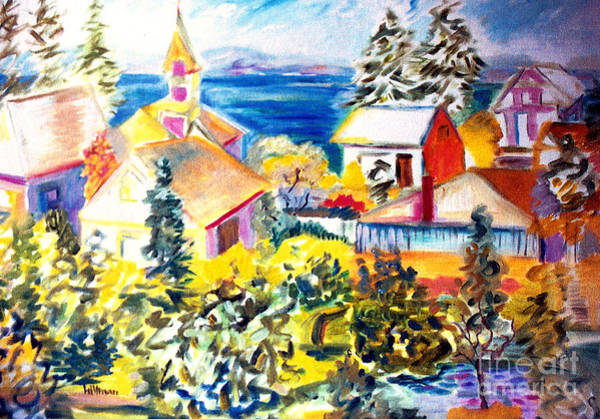 Wall Art - Painting - Mukilteo View 1997 by A Hillman