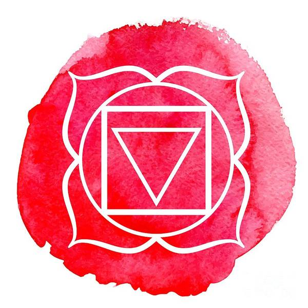 Wall Art - Digital Art - Muladhara Chakra by Nikitina Olga