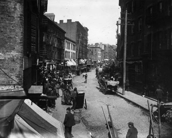 Little Italy Photograph - Mulberry Bend by Jacob A. Riis
