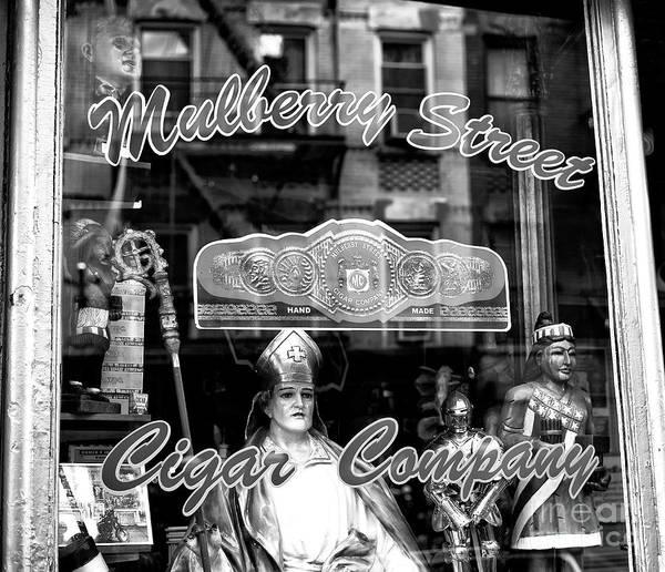 Photograph - Mulberry Street Cigar Company New York City by John Rizzuto
