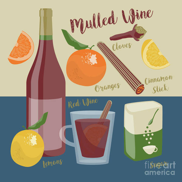 Booze Wall Art - Digital Art - Mulled Wine by Claire Huntley