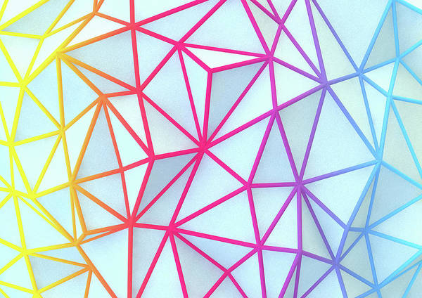 Wall Art - Photograph - Multi Colored Abstract Network Pattern by Ikon Images