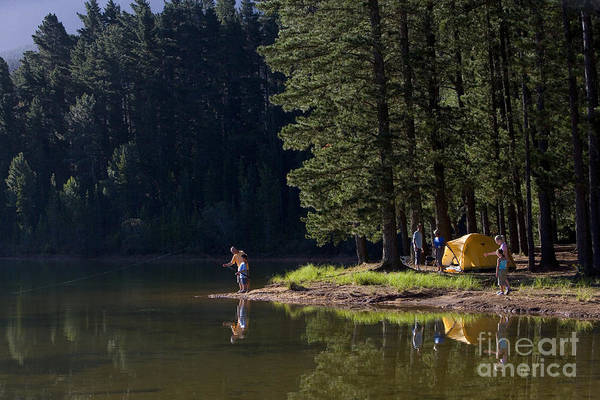 Wall Art - Photograph - Multi-generational Family On Camping by Air Images