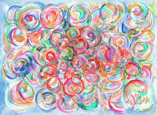 Painting - Multicolor Bubbles by Irina Dobrotsvet
