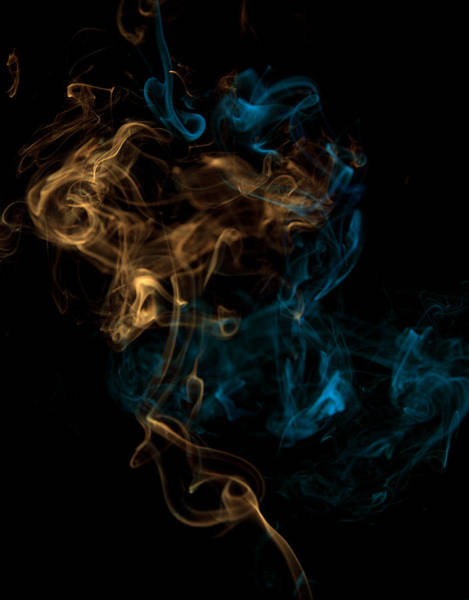 Mixing Digital Art - Multicolored Smoke Mixing by Chad Baker