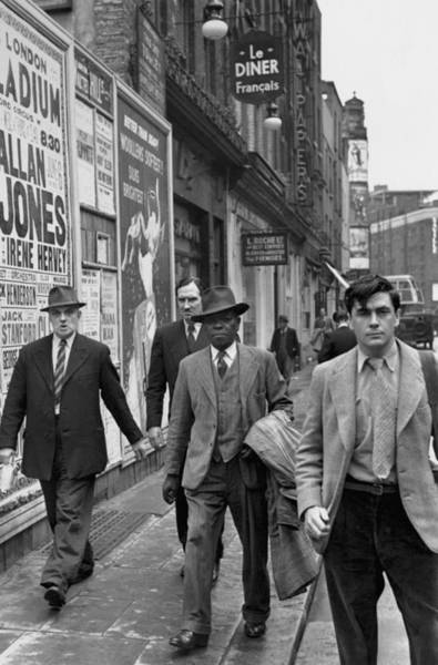 Placard Photograph - Multicultural Soho by Bert Hardy