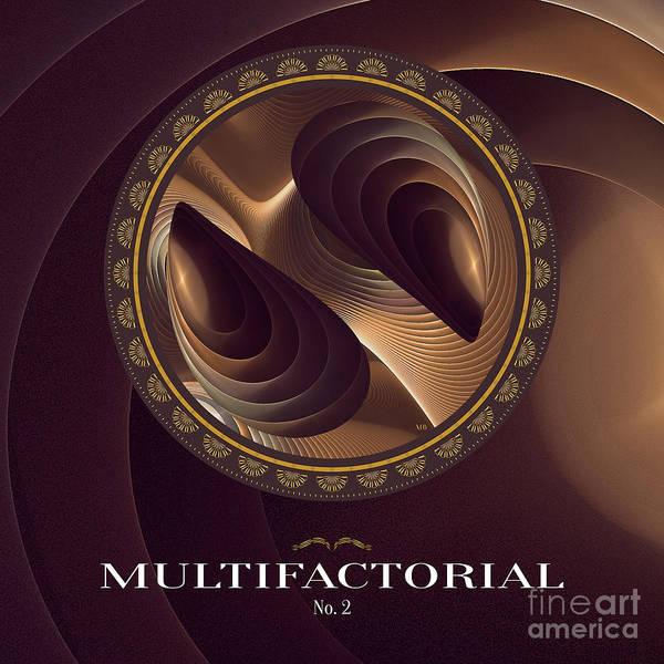 Digital Art - Multifactorial No2 M B by Doug Morgan