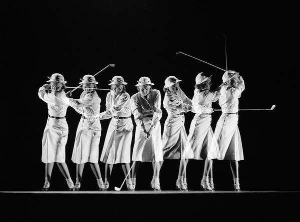 Photograph - Multiple Image Of Womans Golf Swing by Gjon Mili