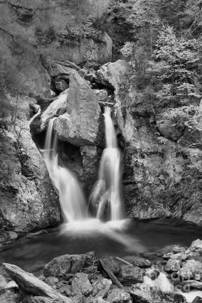 Photograph - Multiple Streams At Bash Bish Falls Black And White by Adam Jewell