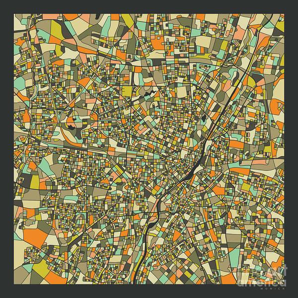 Wall Art - Digital Art - Munich Map 2 by Jazzberry Blue