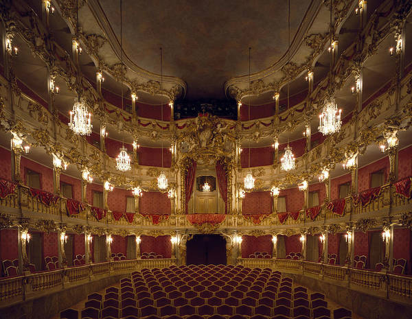 Painting - Munich Residenz Royal Palace. Theatre by Leemage