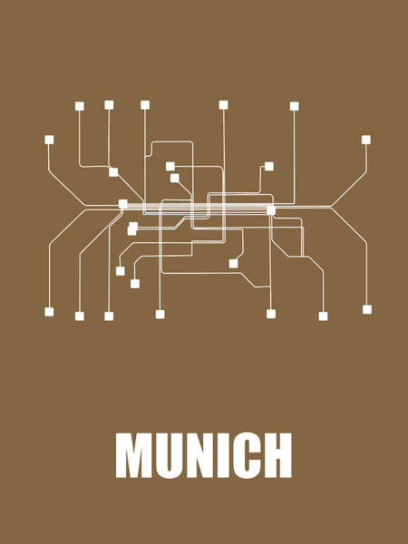 Wall Art - Digital Art - Munich Subway Map 2 by Naxart Studio