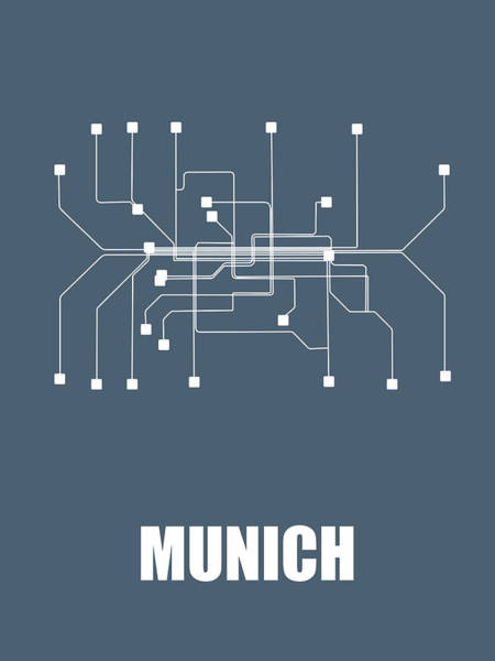 Wall Art - Digital Art - Munich Subway Map by Naxart Studio