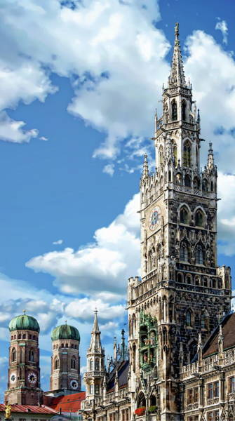 Photograph - Munich Town Hall by Anthony Dezenzio
