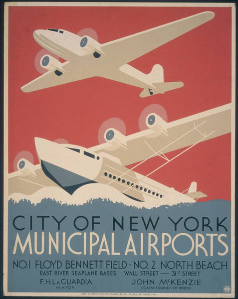 Street Photograph - Municipal Airports Poster by Fotosearch