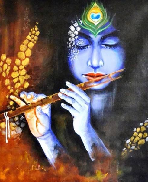 Wall Art - Painting - Murali Manohar by Vishal Gurjar