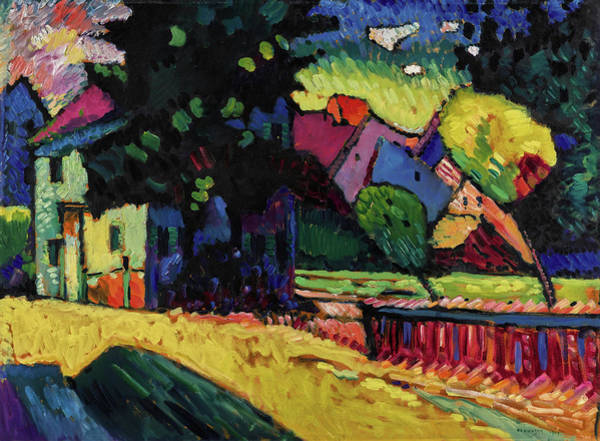Constructivism Painting -  Murnau - Landscape With Green House  by Wassily Kandinsky